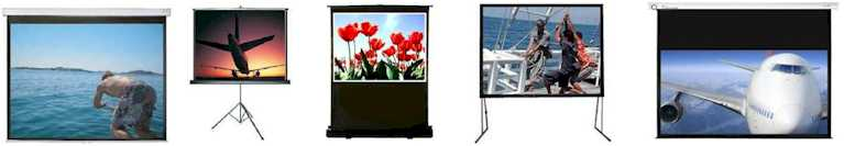 A range of projection screens